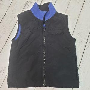 Nike Youth Reversible Fleece Nylon Vest Black Blue